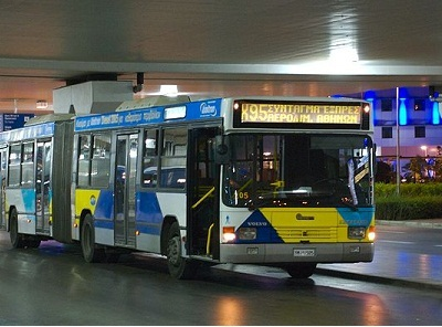 Athens airport bus to city center and Piraeis Port