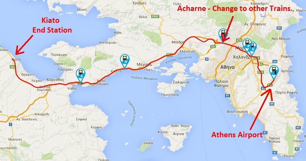 Subway Map Athens Greece.Athens Airport Train To And From Athens Airport